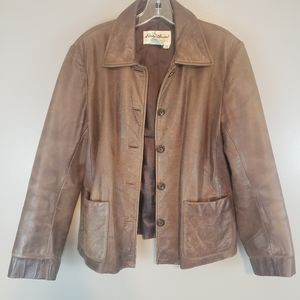 Vintage Eddie bauer leather jacket women's…